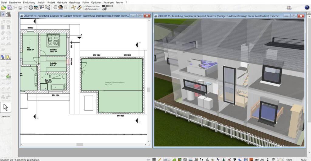 3D Visualisierung mit Geländer