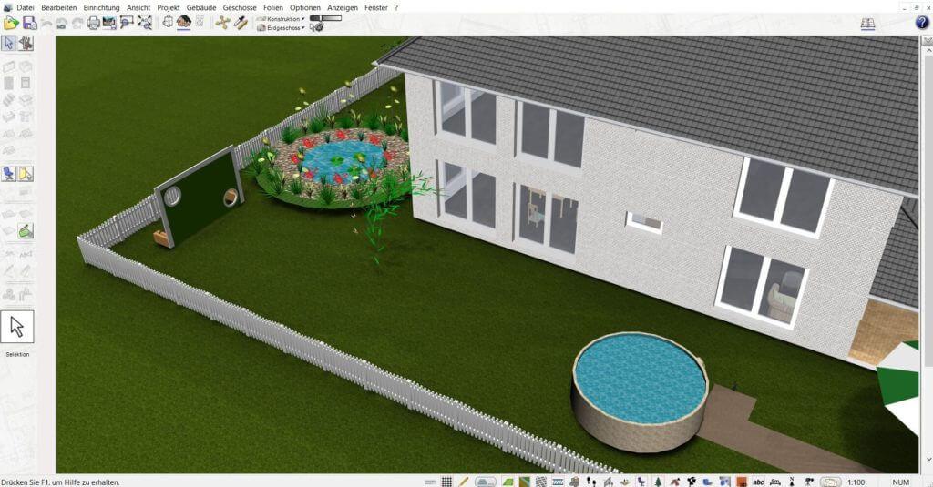 Garten und Geländer planen