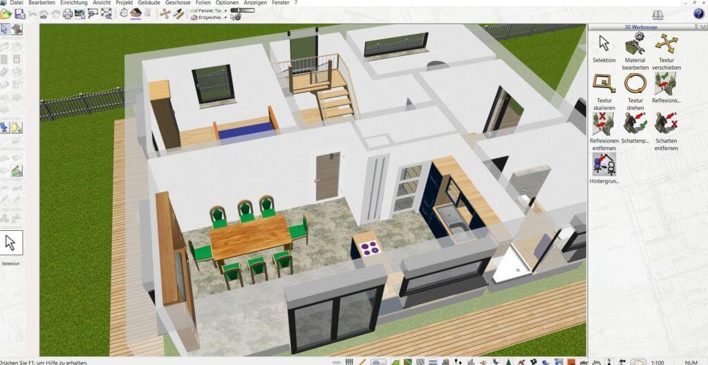 Raumplanung mit Geländer