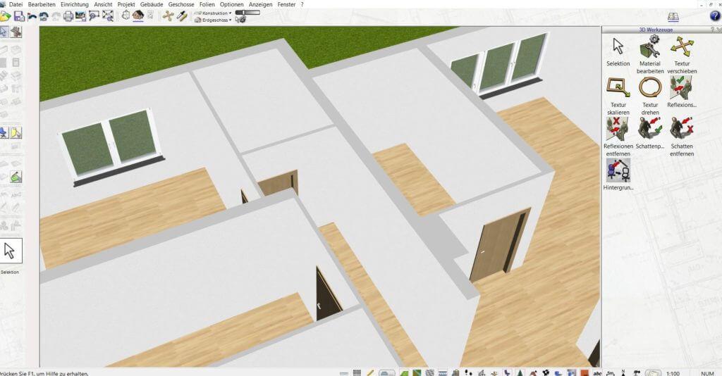 Wohnung mit Geländer selbst planen