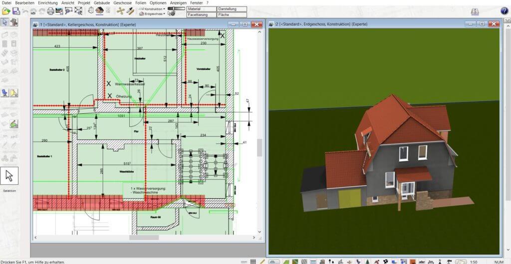 Wintergarten in 3D und 2D planen