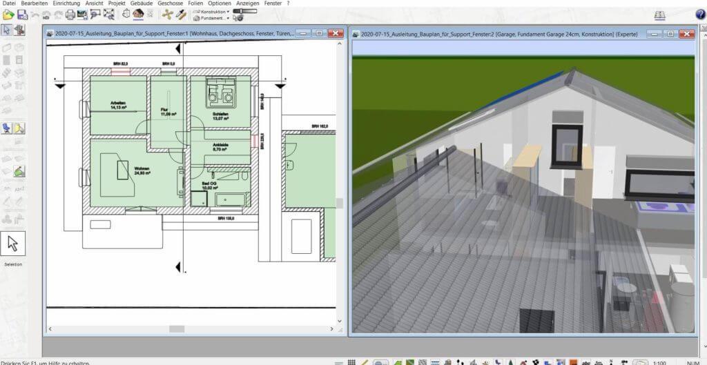 3D Visualisierung einer Sanierung