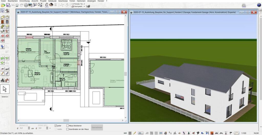 3D Visualisierung mit Balkon