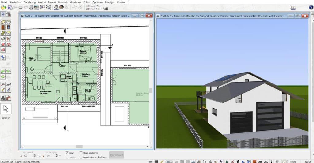3D Visualisierung vom Gartenhaus