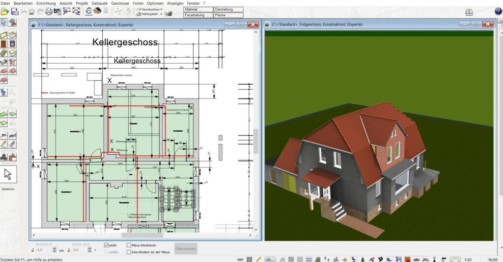 Balkon parallel in 2D und 3D planen