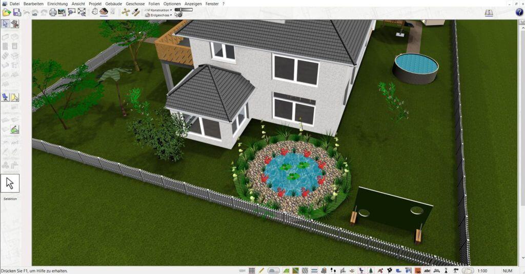 Garten mit Gartenhaus selber planen
