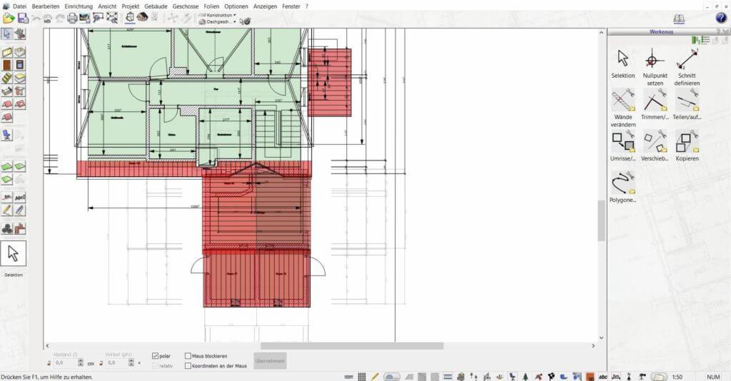 Grundriss vom Gartenhaus planen