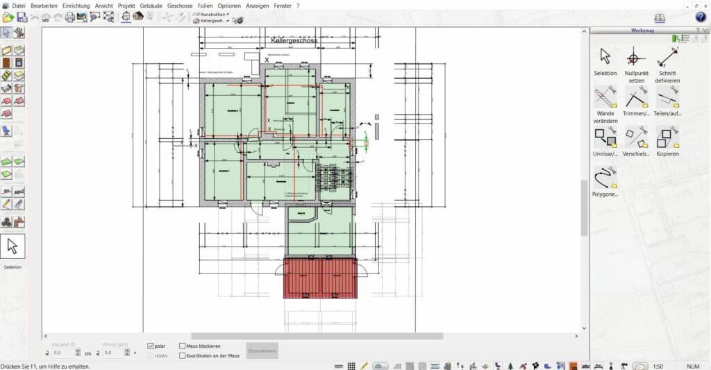 Grundrisse zeichnen mit der Gartenplaner Software