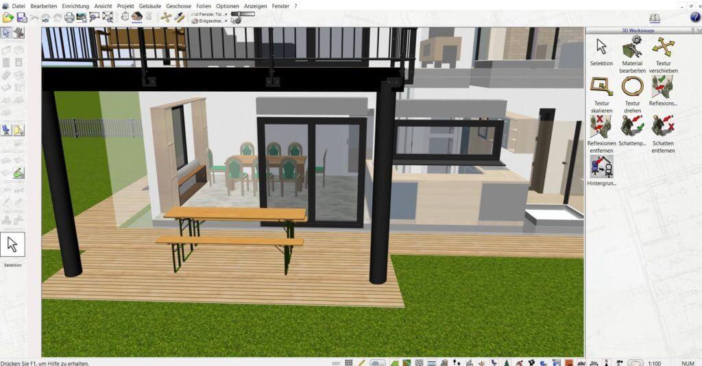 Raumplanung mit der Gartenplaner Software