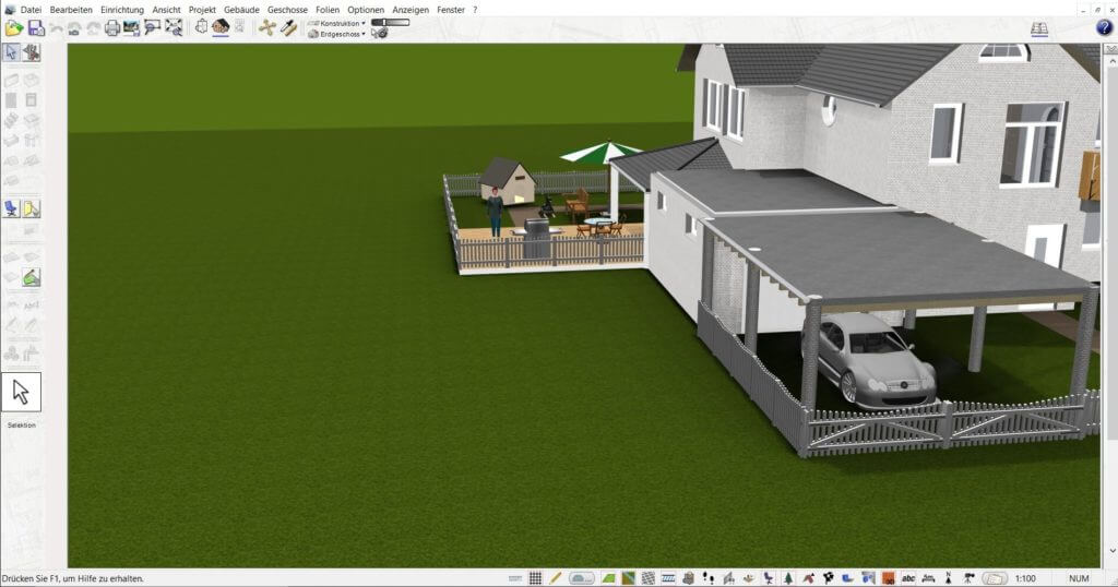 Fotorealistische Visualisierung und Gartenplanung