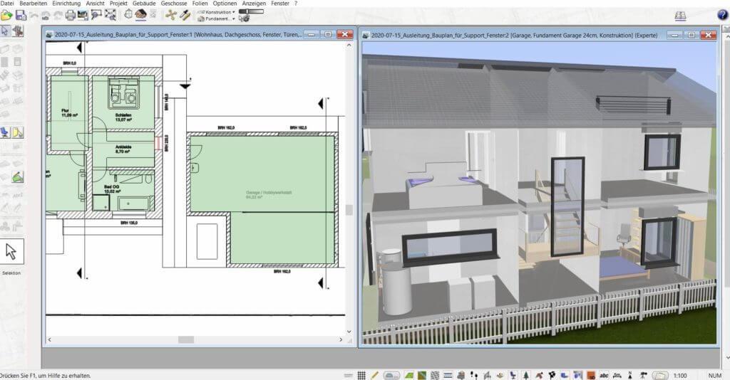 3D Visualisierung eines Einfamilienhauses