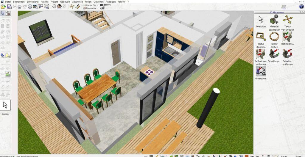 Raumplanung eines Einfamilienhauses