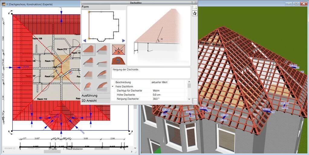 automatische Dachkonstruktion