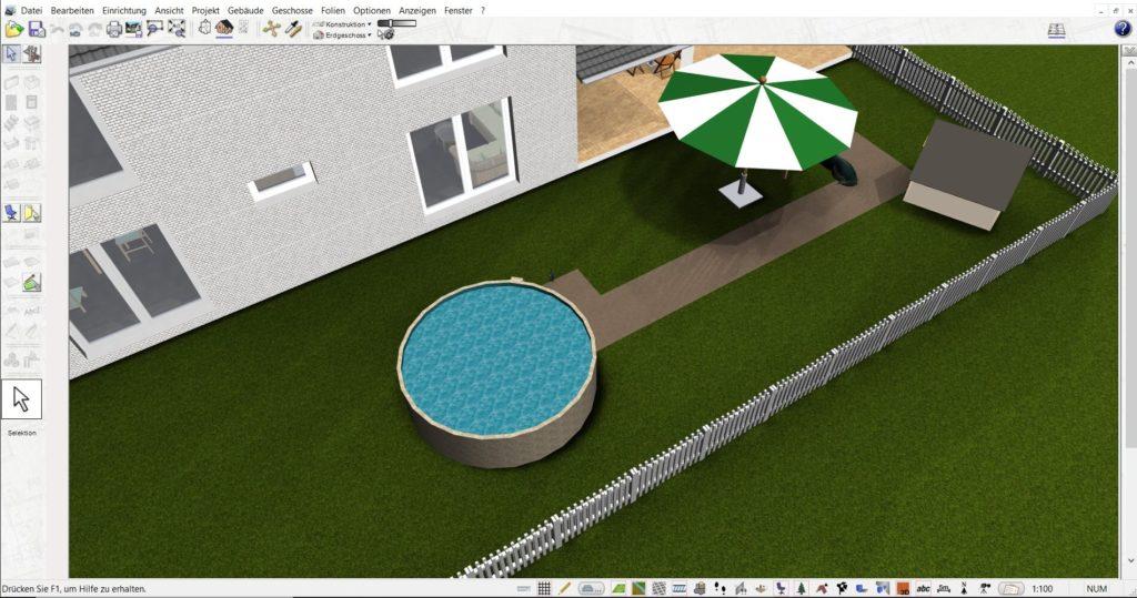 Gartenplanung mit dem DataBecker TraumHausDesigner Nachfolger