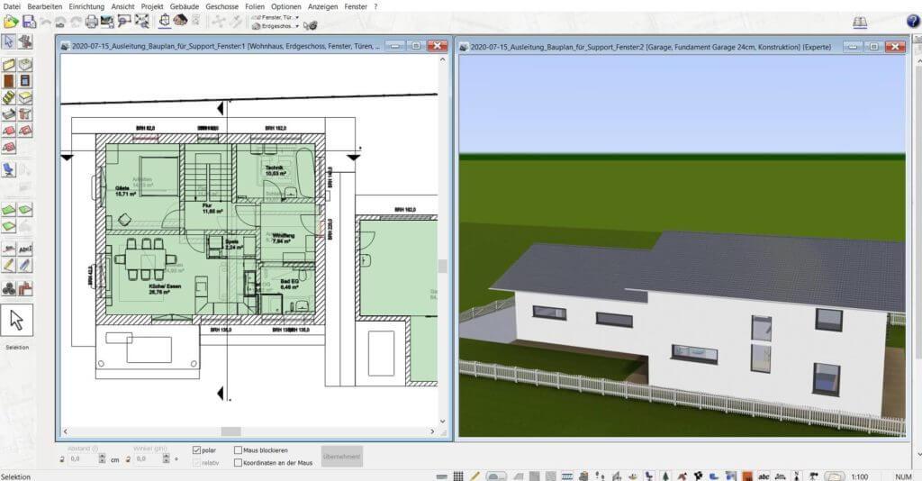 3D Visualisierung einer Garage