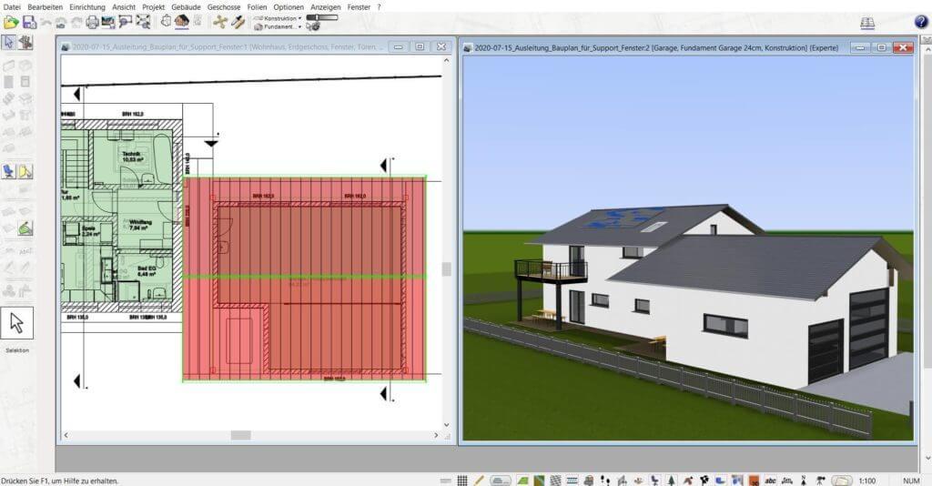 3D Visualisierung für das Haus