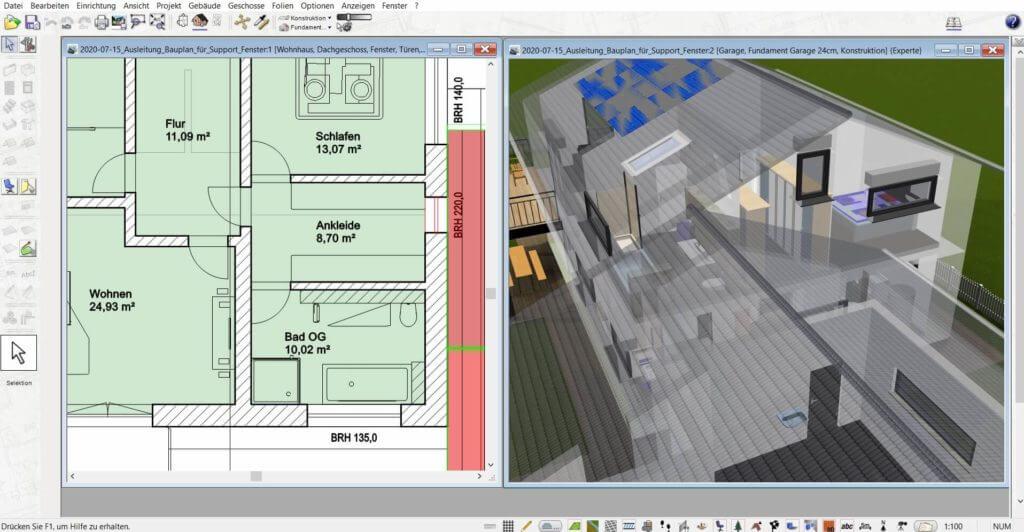 3D Visualisierung mit der Wohnungsplaner Software