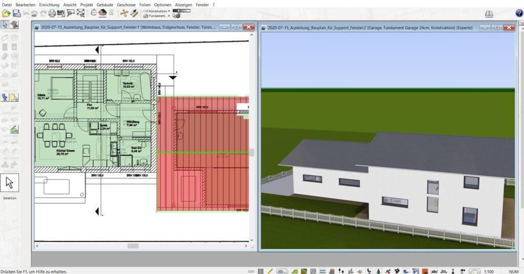 3D Visualisierung vom Blockhaus