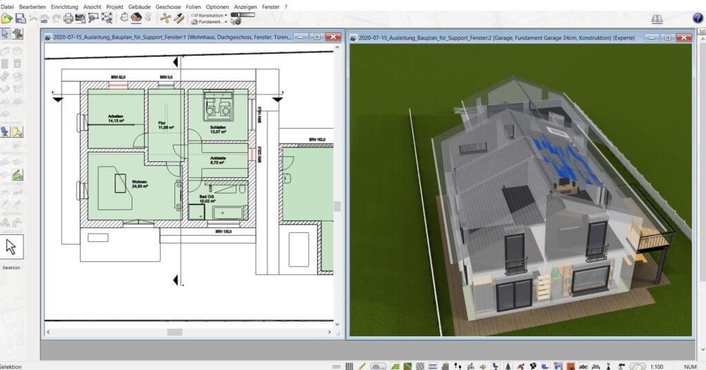 3D Visualisierung vom Lageplan