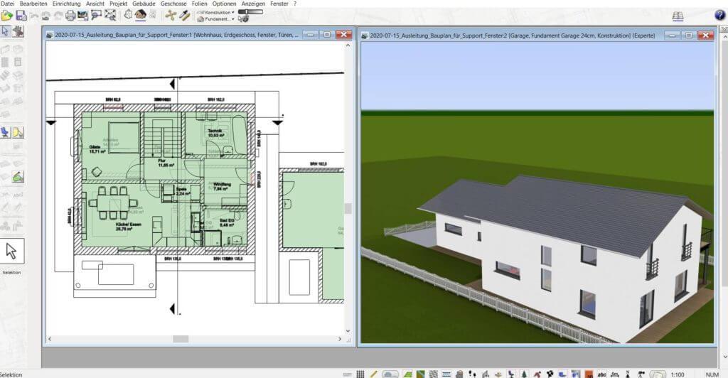 3D Visualisierung vom Stall