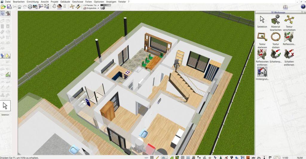 Bauplan einer Wohnung zeichnen