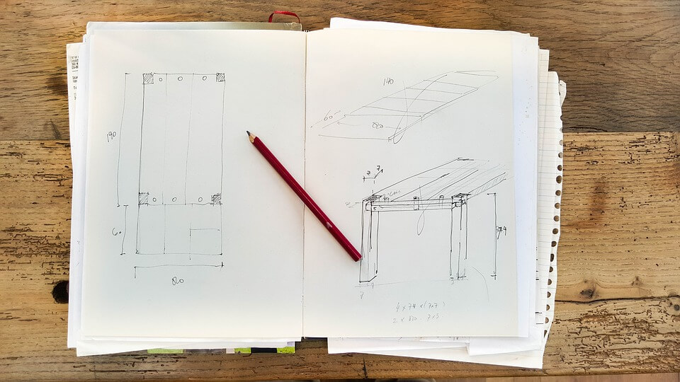 Bauplan selber zeichnen auf Papier