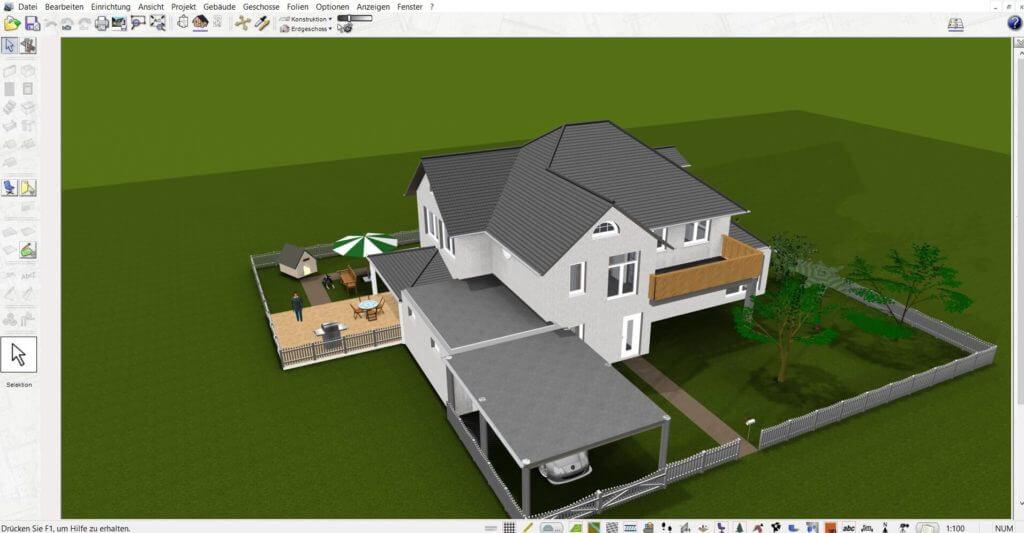Bauzeichnung planen und Garten zeichnen