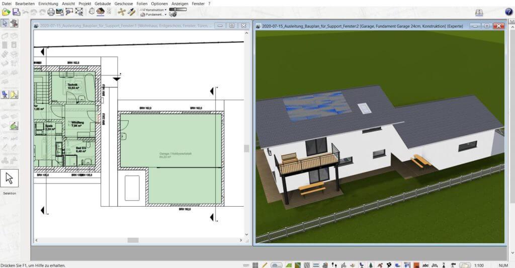 Bauzeichnung und 3D Visualisierung