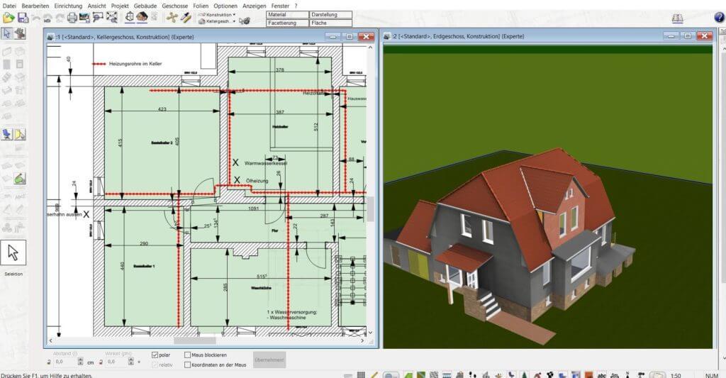 Blockhaus in 2D und 3D planen