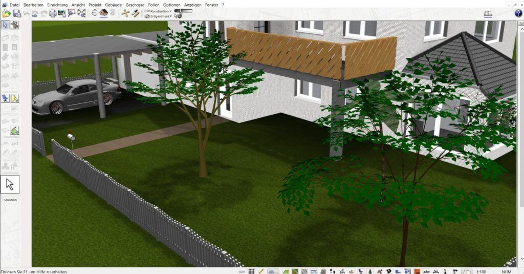 Garten planen mit dem Wohnungsplaner Programm