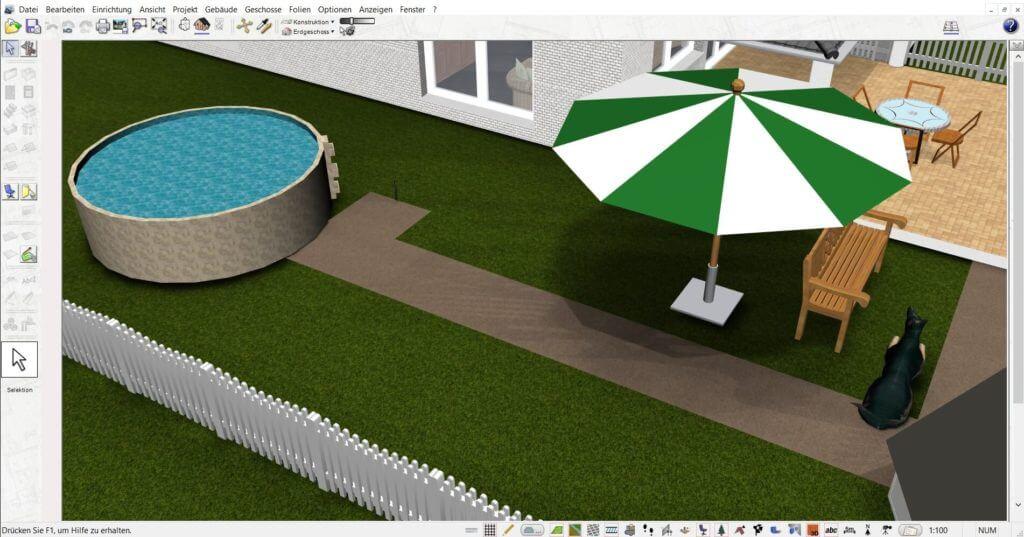 Garten planen mit der Gartendesigner Software