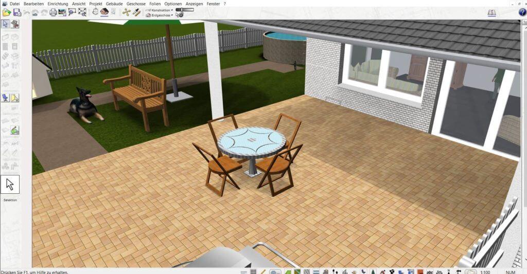 Garten und Stall zeichnen