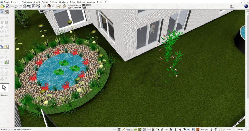 Gartenplanung mit Zeichenprogramm