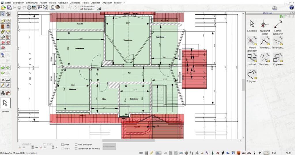 Grundriss für den Bauplan erstellen