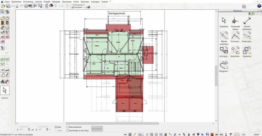 Grundriss für eine Bauzeichnung erstellen