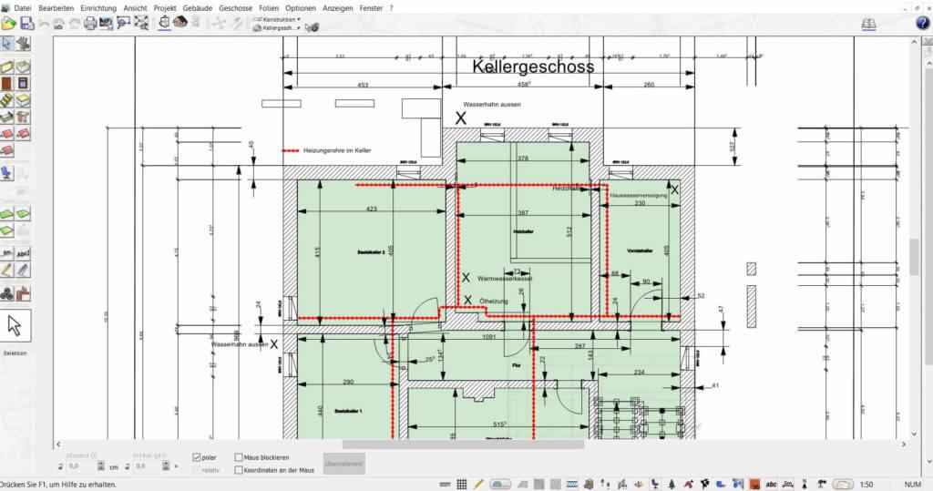 Grundriss mit Lageplan zeichnen