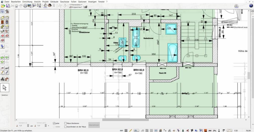 Grundriss zeichnen mit dem Wohnungsplaner Programm