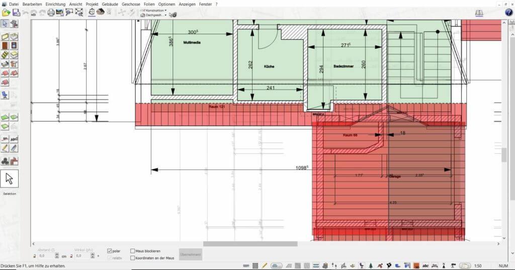 Grundriss zeichnen mit der Gartendesigner Software