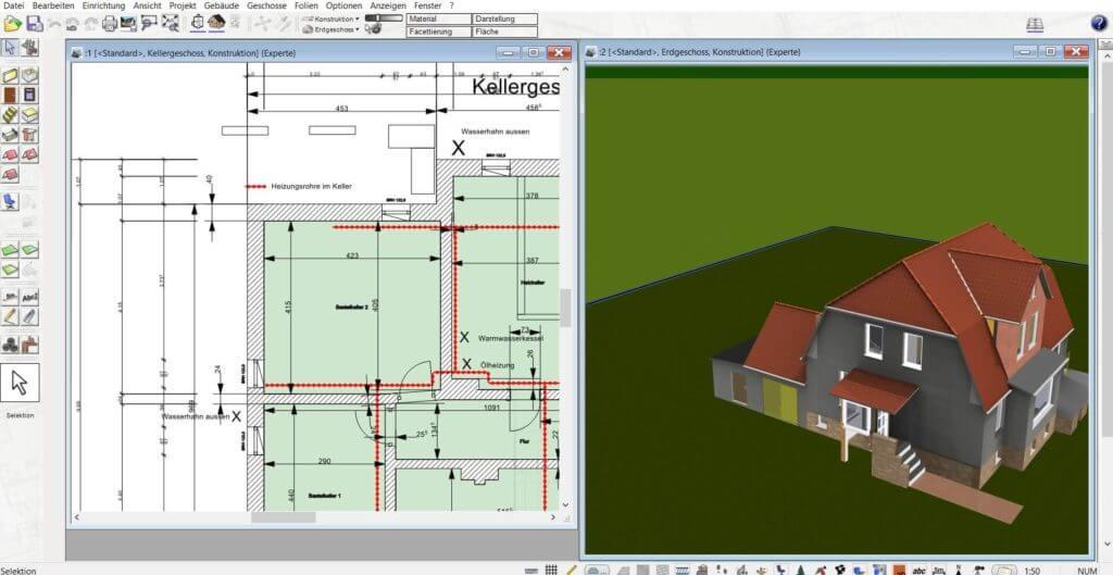 Haus in 2D und 3D selber planen
