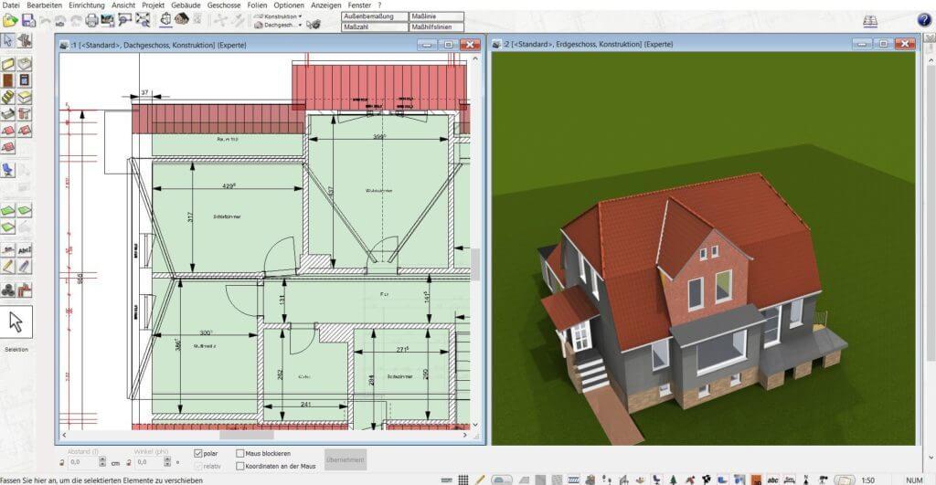 Lageplan in 3D und 2D planen
