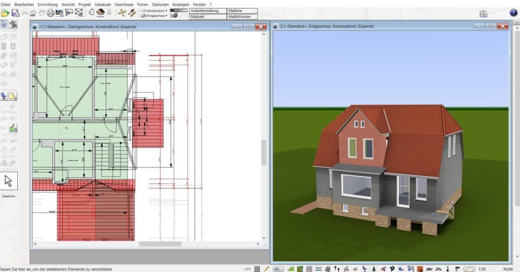 Parallel in 2D und 3D planen mit dem Wohnungsplaner Programm