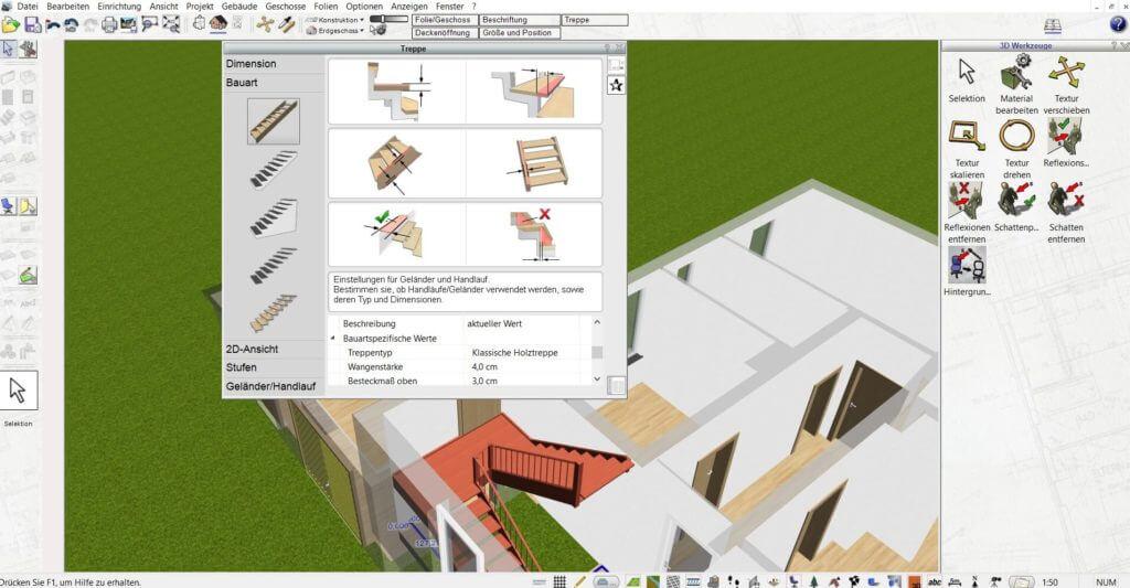 Raumplanung für den Bauplan