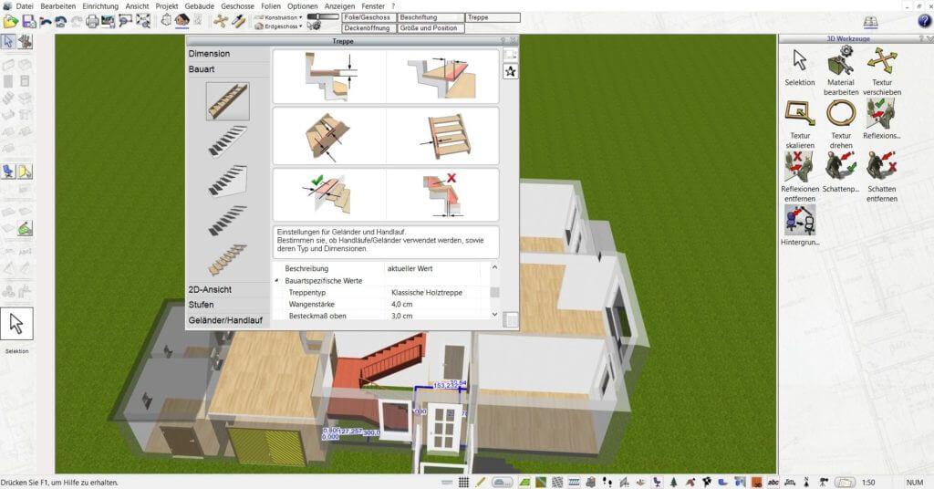 Raumplanung für die Bauzeichnung
