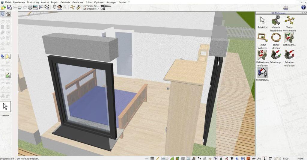 Raumplanung mit dem Wohnungsplaner Programm