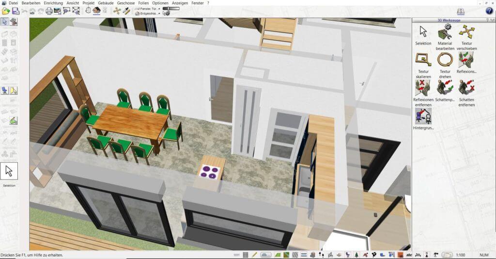 Raumplanung mit der Gartendesigner Software