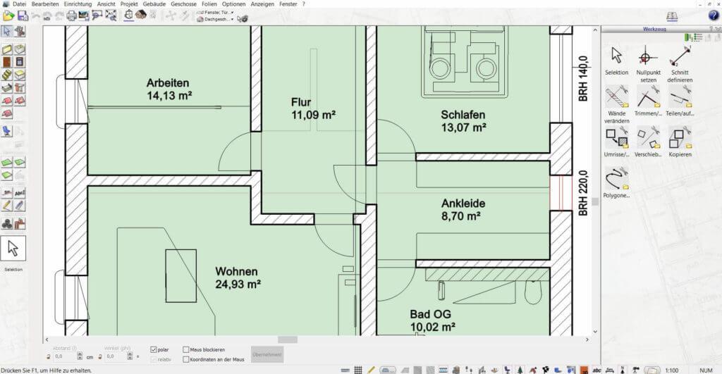 Wohnung mit Lageplan planen
