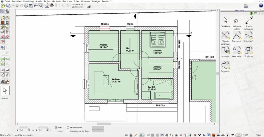 Wohnung planen mit dem Wohnungsplaner Programm