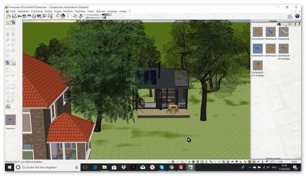 Gartenplanung mit der Hausplaner Software (1)