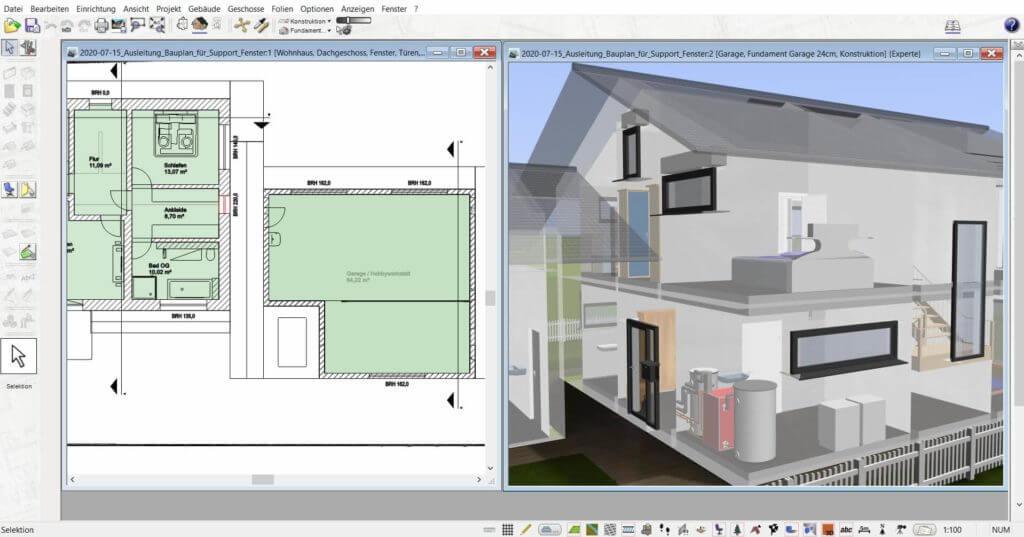 3D Visualisierung der Dachgauben