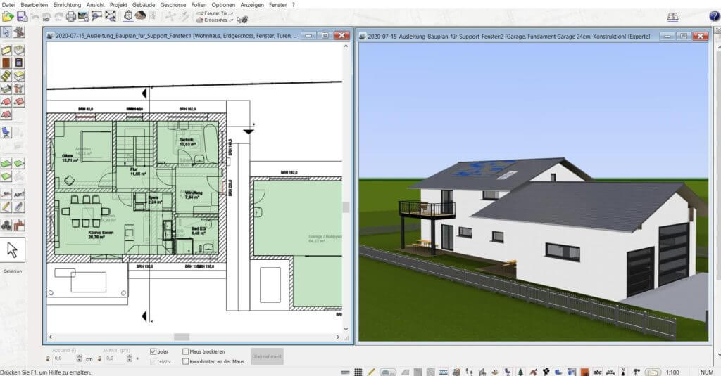 3D Visualisierung der Terrasse